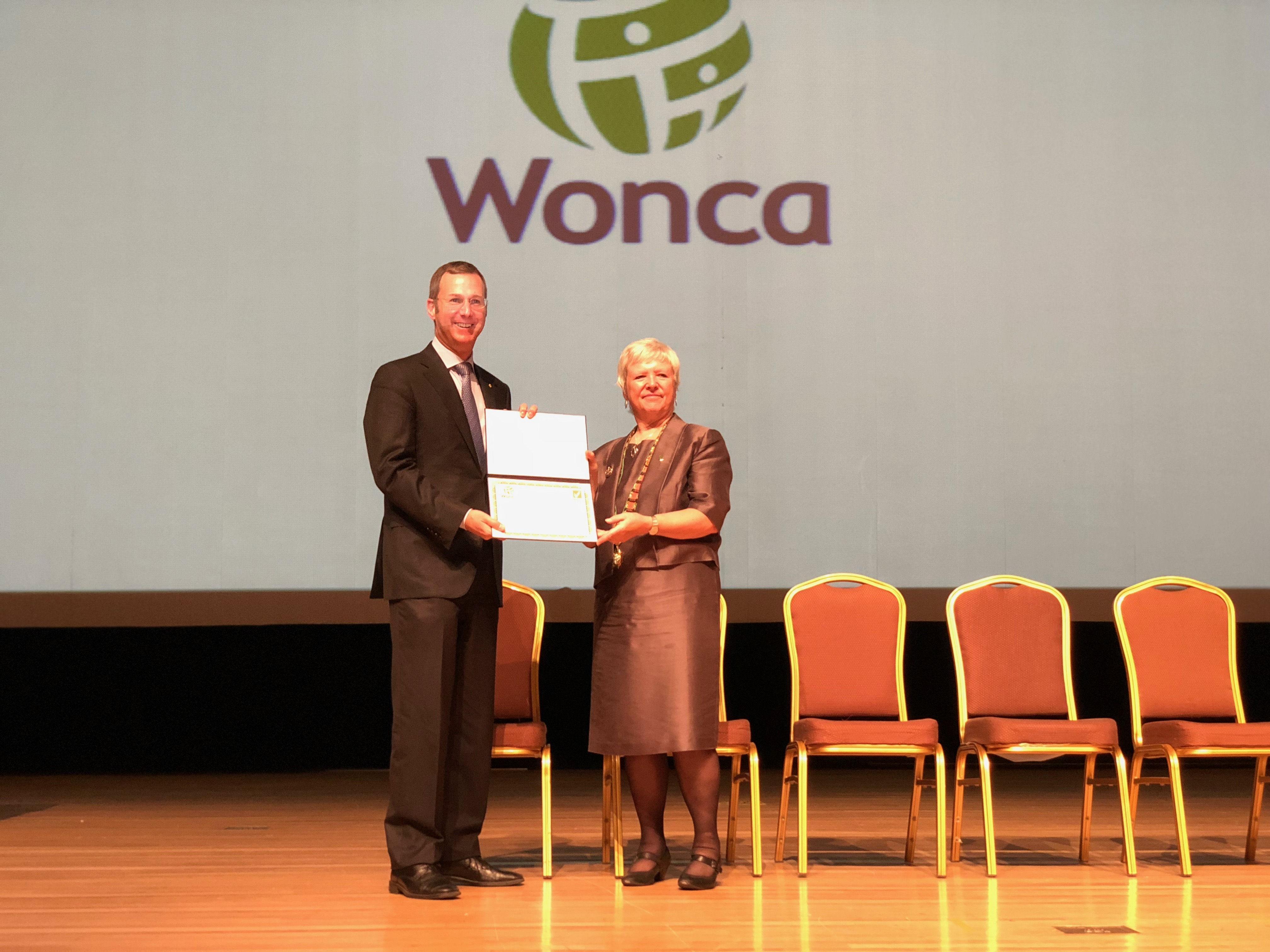 WONCA accreditation certificate